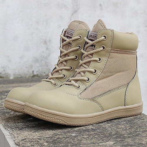 RDJM Botte enfant lacets moto démarrage High Leg Desert bottes de chasse chaussures de randonnée chaussures Casual chaussures Mountaineer chaussures