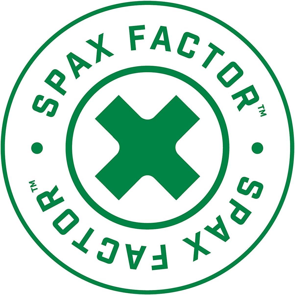 Spax 4581020701525 1//4 x 6 T-Star Drive Washer Head Yellow Zinc PowerLag Screw 50 Pieces per Box