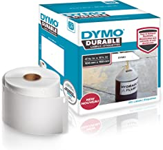 """DYMO LW Durable Industrial Labels for LabelWriter 4XL Label Printers, White Poly, 4-1/16"""" x 6-1/4"""", Roll of 200 (1933086)"""
