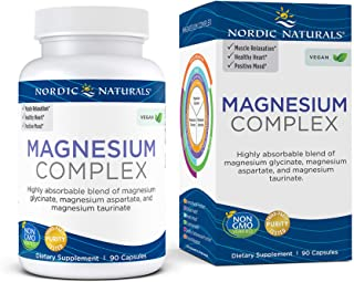 Sponsored Ad - Nordic Naturals Magnesium Complex - 90 Capsules - 225 mg Magnesium - Brain & Heart Health, Mood, Energy, an...