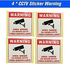 Sazoley NEW 4pcs/lot Safurance Waterproof Sunscreen PVC Home CCTV Video Surveillance Security Camera Alarm Sticker 24 Hour...