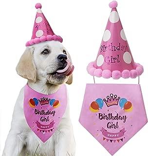 LUTER Dog Birthday Bandana Triangle Scarfs Cute Doggie Birthday Party Hat Happy Birthday Boy Print for Dog or Puppy Birthday Decor