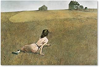 Christina's World by Andrew Wyeth, 30x47-Inch Canvas Wall Art (Renewed)