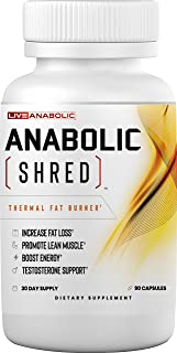 Anabolic Shred LiveAnabolic: Anabolic Shred - Thermal Weight Loss Support for Men - 90 Capsules, 30-Day Supply - Supports ...