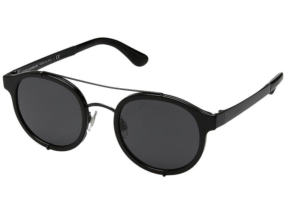 Dolce & Gabbana DG2184 (Black/Grey) Fashion Sunglasses