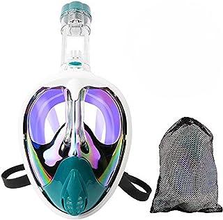 AriTan Full Face Snorkel Mask Anti-UV 180° Panoramic View and Curved Face Design, Anti-Leak Anti-Fog with Camera Mount Por...