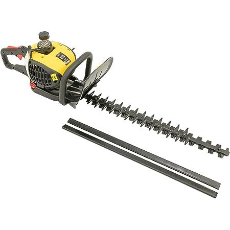 MaxxGarden - Cortasetos térmico inalámbrico 900 W, cortasetos a gasolina, 25.4 cc, hoja de acero de 70 cm, distancia entre dientes 28 mm