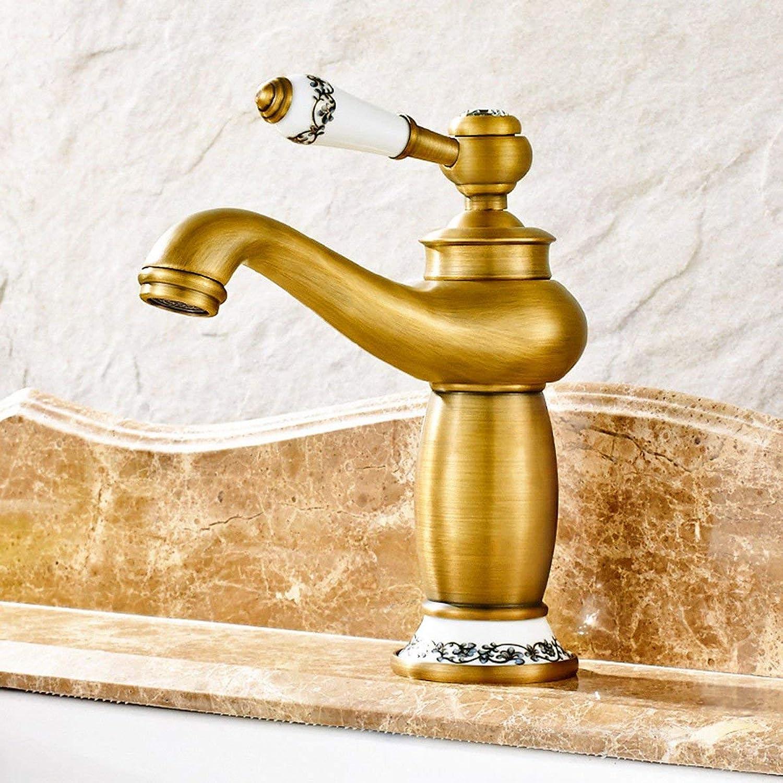 Oudan Basin Mixer Tap Bathroom Sink Faucet Faucets Antique Bathroom Sinks Faucets copper pots on the Jade faucets continental hot and cold basin faucet, B (color   A)