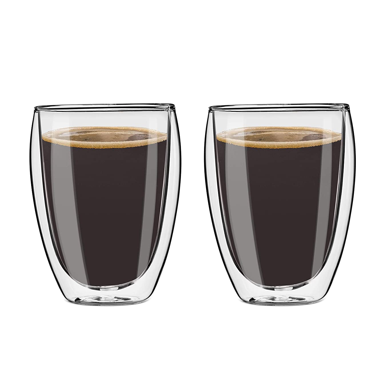 Style Setter Double Wall Tumblers – Set of 2 11.5oz Insulated Home Barware Glasses for Cold Drinks, Cocktails, Coffee, Hot Tea & Other Beverages – Unique Gift Idea for Birthday, Holiday & More