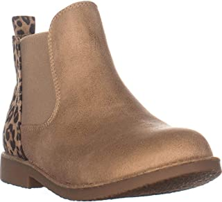 SEVEN DIALS Maggie Slip On Flat Ankle Boots, Natural/Leopard