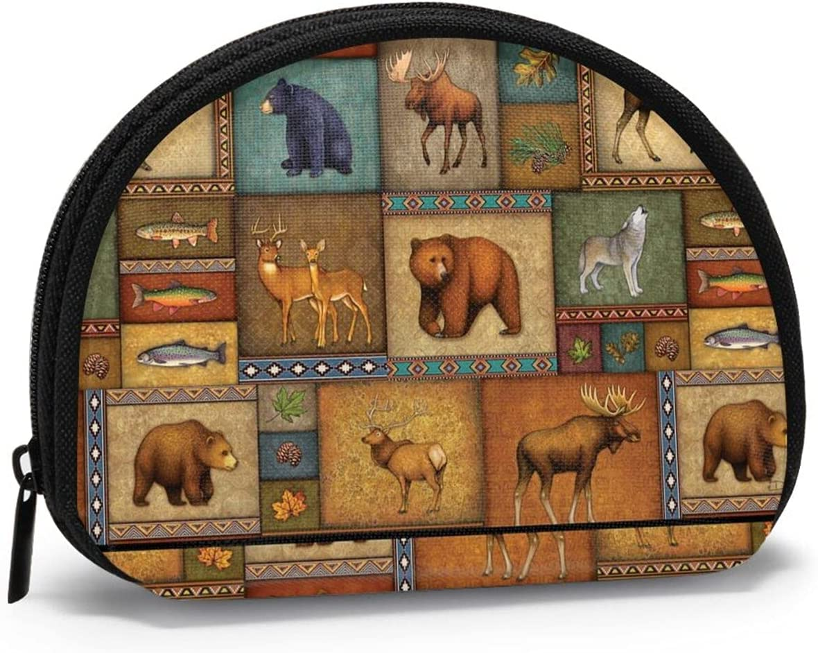 Rustic Wildlife FSERSANHW Coin Purse Small Cute Fashion Purse Pouch Mini Colorful Wallet Coin Bag Present