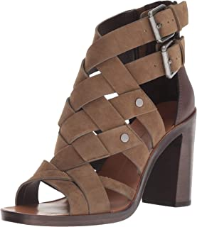 Dolce Vita Women's NOREE Heeled Sandal, Olive Suede, 8 M US