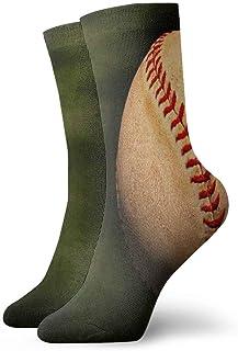Calcetines de mujer para hombre Fondo de béisbol vintage Calcetín atlético Cojín anti olor único Calcetín de arranque corto