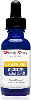 Marouja Beauty Hyaluronic Acid Serum For Anti Wrinkle And Dark Circle Remover All Natural And Moisturizing 30 ml, Pack of 1