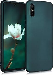 kwmobile telefoonhoesje compatibel met Xiaomi Redmi 9A - Hoesje voor smartphone - Back cover in metallic petrol