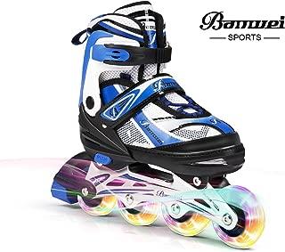 BANWEI SAM Toys Girls Adjustable Inline Skates with Light up Wheels - Beginner Kids Rollerblades Best Gift for Birthday or Christmas