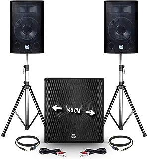 "Pack PA - BM SONIC - 2400W USB/BT - 2 Luidsprekers 12""Subwoofer + 18"" + Feet + Mic + Phone"