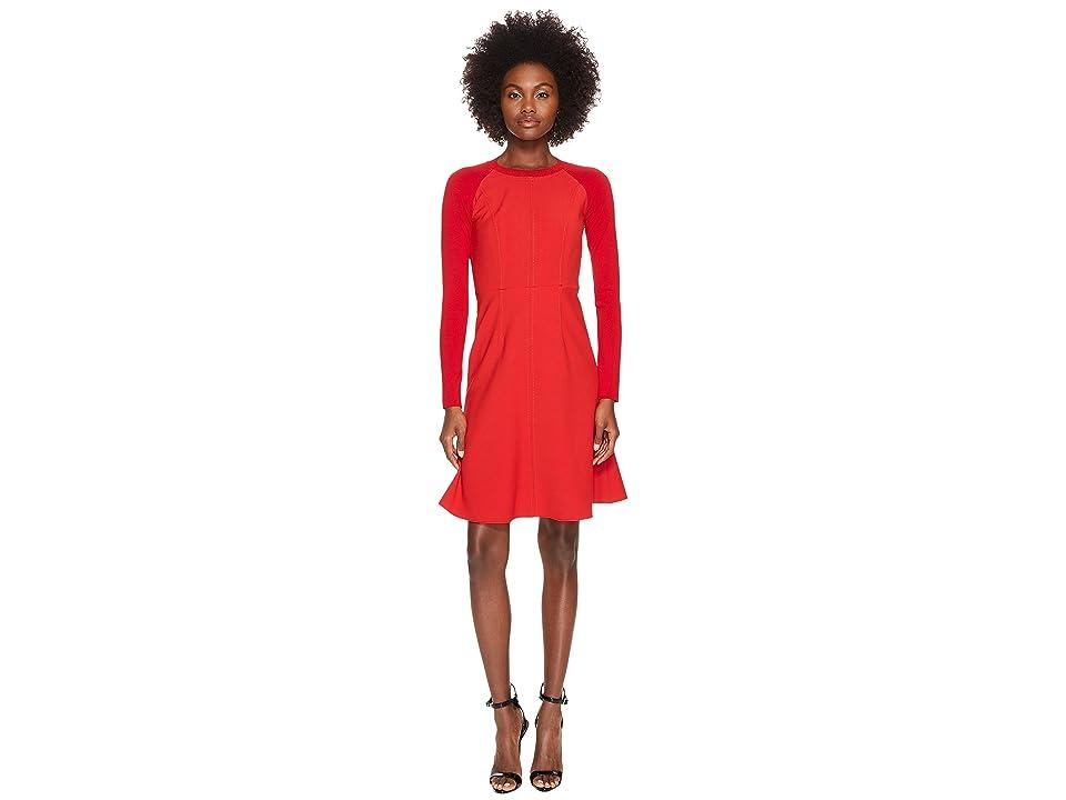 Sportmax Rennes Long Sleeve Dress (Red) Women