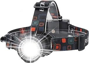 BORUiT RJ-2166 1000 Lumens T6 LED Headlamp with White Light,3 Modes Zoomable Headlight Flashlight,IPX4 Waterproof Head Tor...