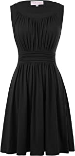 A-Line Women's 1950s Vintage Dress Sleeveless
