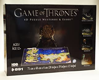 Game of Thrones 4D Puzzle of Westeros & Essos 4D Cityscape [891Piece]