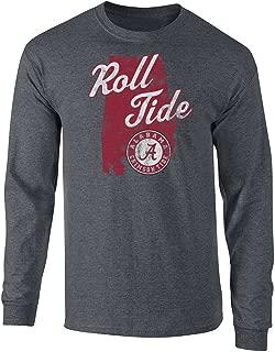Alabama Crimson Tide長袖Tシャツチャコール