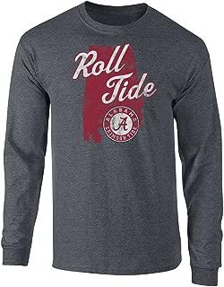Elite Fan Shop NCAA Men's Long Sleeve T Shirt Charcoal Vintage