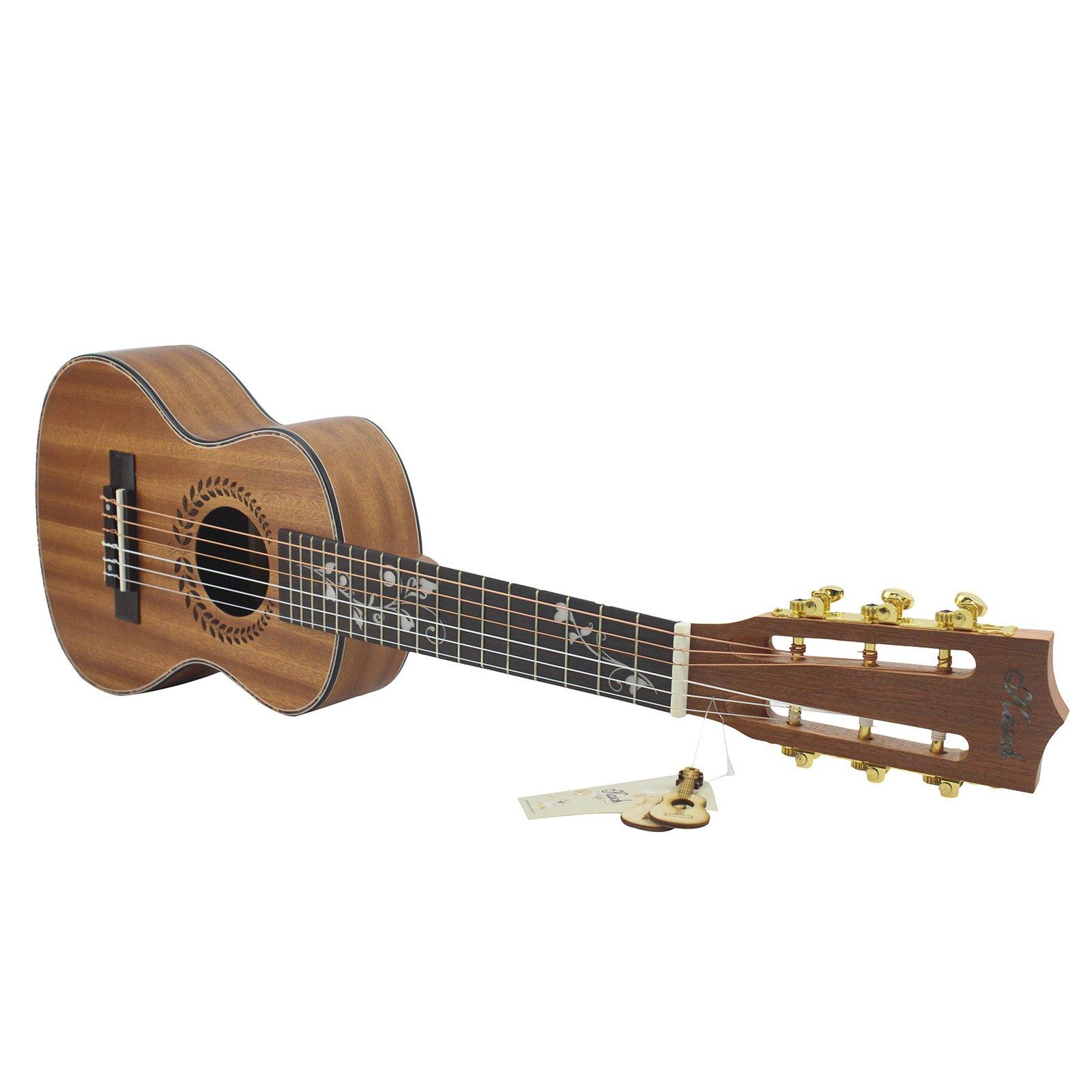 Hjuns 28 Guitalele Guitarlele Guilele Solid Cedar Rosewood ...