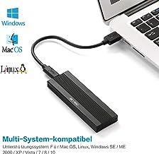 BEYIMEI USB3.1 a NVME M.2 Cajas para Discos Duros, USB 3.1Gen 2 10 Gbps Adaptador, Caja Externa de SSD para NVME M.2 M-Key SSD 2230/2242/2260/2280(Cable Tipo C - Tipo A, Cable Tipo C - Tipo C)