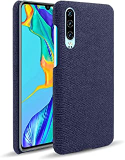 Suhctup Compatible con Huawei 7i Funda de Tela Tejida de Color Sólido TPU Forrada Premium de Carcasa Simple Moda Antideslizante Antigolpes Anti-arañazos Protección Caso(Azul)