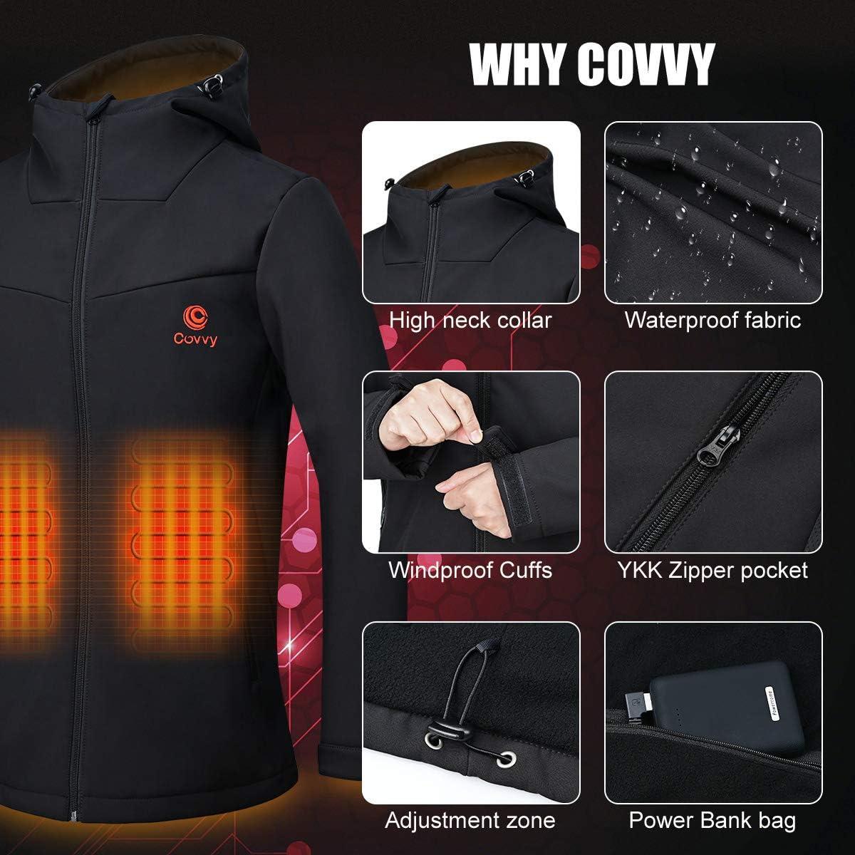 COVVY para camping con bater/ía esqu/í sin mangas etc. c/álido lavable Chaqueta t/érmica el/éctrica para mujer caza senderismo