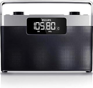Philips AE2430/12 przenośne radio (z cyfrowym tunerem UKW/MW, miejsce na 20 programów, akumulator lub zasilanie sieciowe, ...