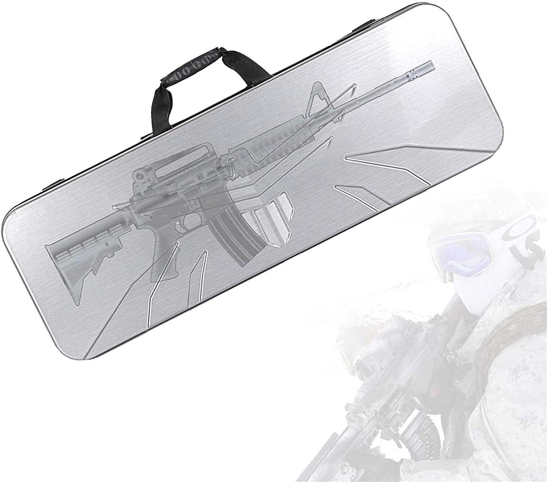 Bolsa de escopeta que acampa, Caja de transporte de transporte de pistola, caja de escopeta con protección impermeable y resistente al desgaste, protección de esponja, base resistente al desgaste, est