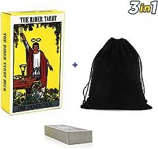 Smart Electronic Solutions Tarot Cards Set Rider Waite Tarot Cards Deck with English Instructions Book Manual 78 TarDeck Set with Velvet Bag