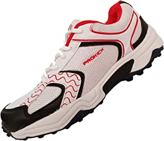 SG Prokick 2.0 Improved Rubber Spikes Champion Edition Cricket Shoes, White/Red