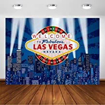 COMOPHOTO Las Vegas Photography Backdrop 7x5ft Adult Casino Sign City Night Party Decorations Printing Photo Booth Background for Pictures Props