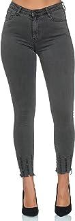 Elara Jeans para Mujer Elástico Cintura Alta Skinny Chunkyrayan