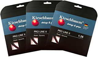 Kirschbaum Pro Line II 125 Buy 2 & Get One More Free!! Promo Pack Pro Line II 125 Set, Black, 125/17g