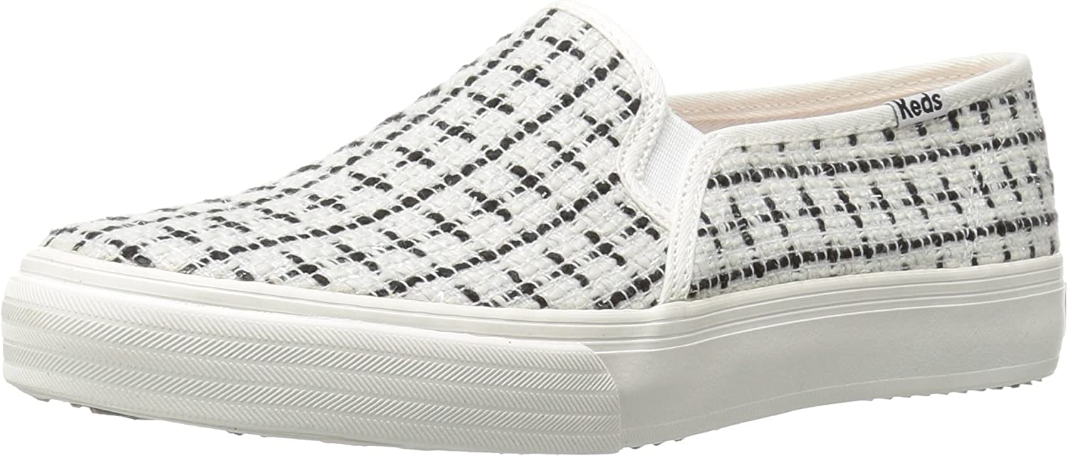Keds Womens Double Decker Metallic Boucle Fashion Sneaker