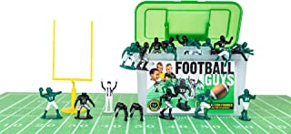 Kaskey Kids Football Guys – Green/Black Inspires Kids Imaginations with Endless Hours of Creative, Open-Ended Play – Includes 2 Teams & Accessories – 28 Pieces in Every Set!