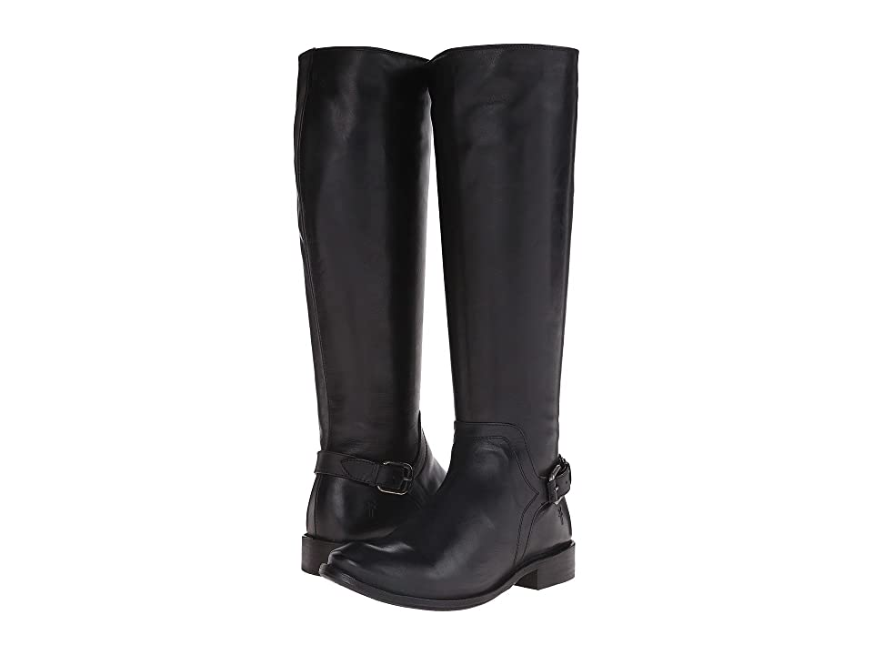 Frye Shirley Shield Tall (Black Smooth Vintage Leather) Cowboy Boots