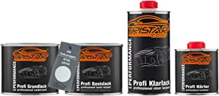 TRISTARcolor Autolack Set Dose spritzfertig für VW/Volkswagen R735 / LR735 Lichtgrau Grundlack + Basislack + 2K Klarlack 1,75L