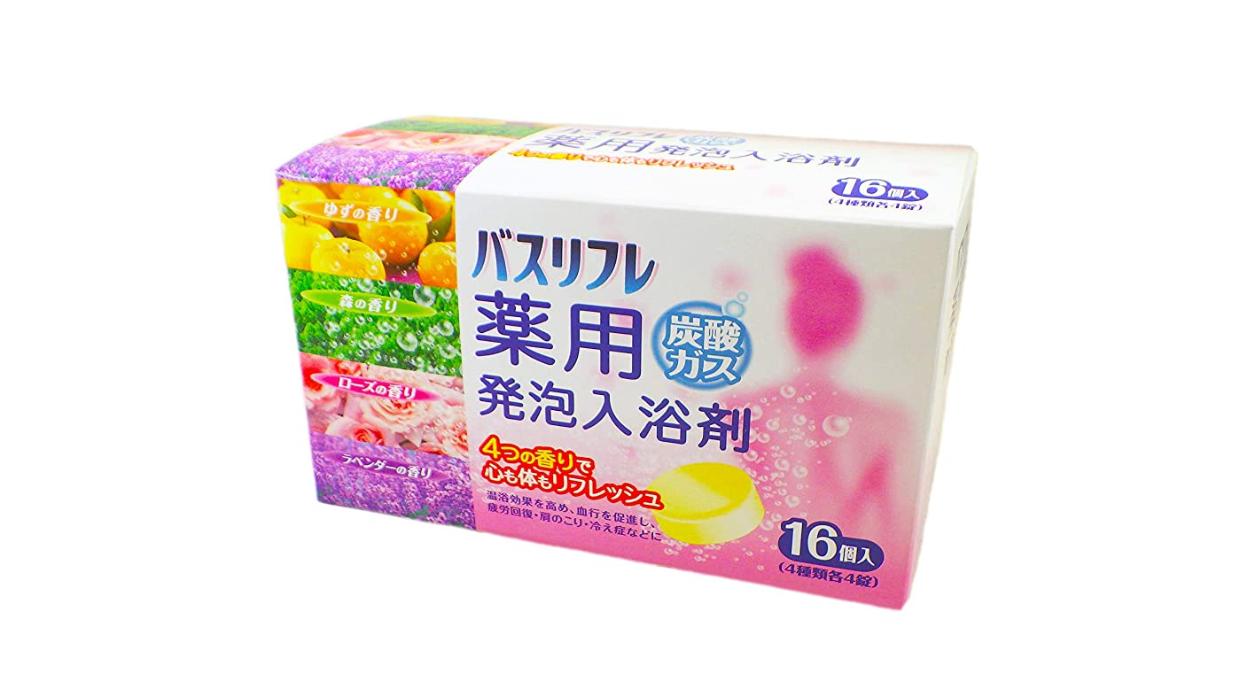 意味のある適応する新鮮なバスリフレ 薬用発泡入浴剤 炭酸ガス 16錠入(4種×4錠) 医薬部外品