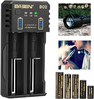 電池充電器 単2単3単4 リチウムイオン 18650 14500 20700 21700 ニッケル水素電池 充電器 2本