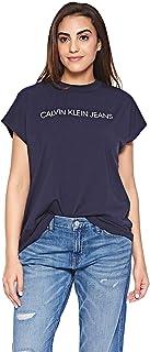 Calvin Klein T-Shirts For Women, XS, Blue
