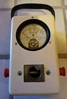 FidgetKute Struthers Wattmeter 503 / USM-298 Version of Bird 43 watt Meter Nib, w/Plug &Man Show One Size