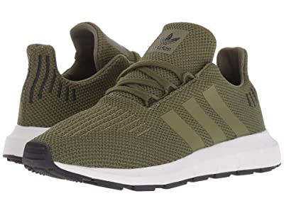 adidas Originals Kids Swift Run C (Little Kid) (Olive) Boys Shoes