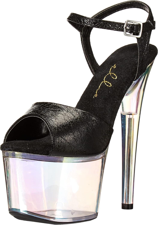 Ellie Shoes Women's Stiletto Sandal Heeled, Black, 7