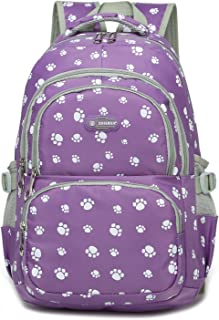 Girls Backpacks for Elementary School Bags for Kids Kindergarten 17 18 Inch Large waterproof (Purple 2)