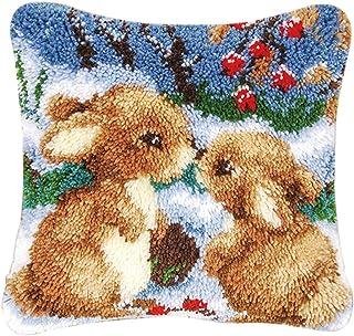 oshhni Kits de Crochet de Verrouillage pour Housse de Coussin Bricolage Housse de Coussin de Canapé 43x43cm - Multicolore 4